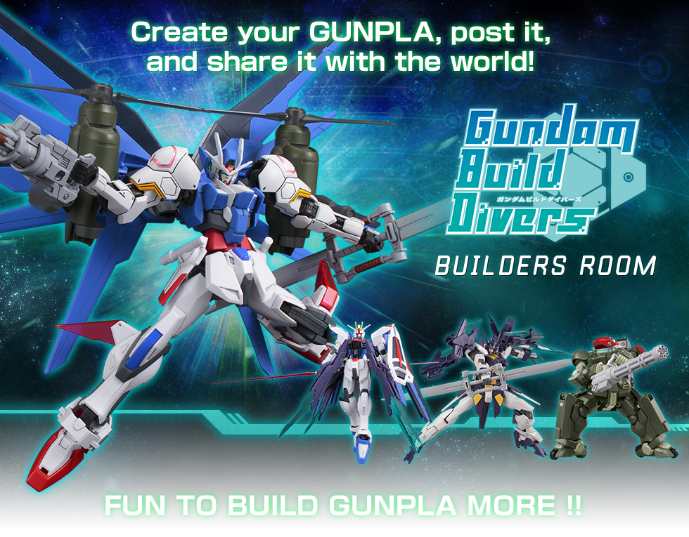 Create your GUNPLA, post it, and share it with the world!